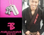 Fearless Martial Arts Necklace, Gi Necklace, Fearless Necklace, Gym Jewelry, Inspiring Jewelry, Fearless Jewelry, Role Model