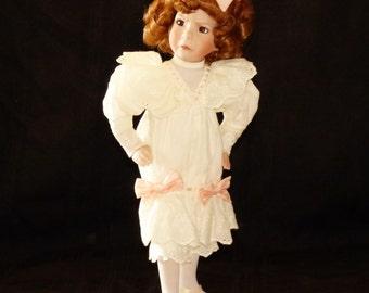 Vintage Dianna Effner Girl With A Curl Porcelain Doll