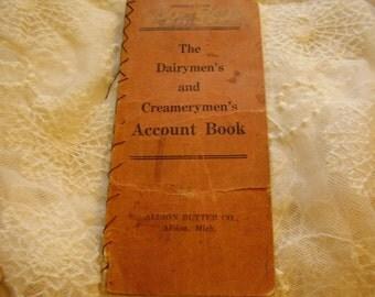 1912 Dairymen's and Creamerymen's Account Book