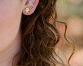 Brass Bowl Stud Earring