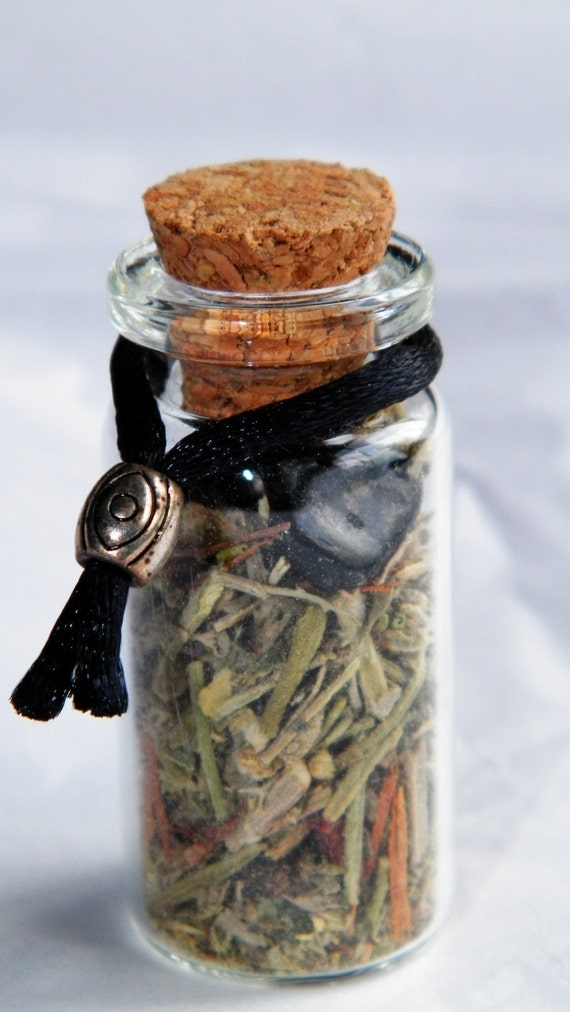 Curio Charm @sshole Repellant Witch Bottle Handmade Herbal Blend Banishing  Ward Talisman Ritual Supply Incense
