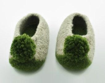 Child's felted wool slipper US sizes 11, 2