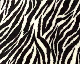 BY THE YARD- Shannon Fabrics Zebra Cuddle Minky Fabric