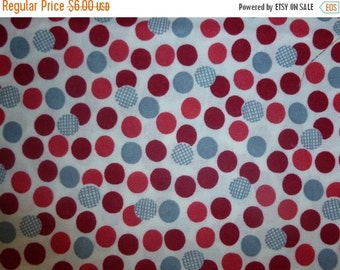 ON SALE Red and Silver Dots from the Talk and Hearts Collection by Junko Matsuda for Daiwabo