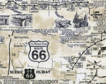 Route 66 Map from Timeless Treasures