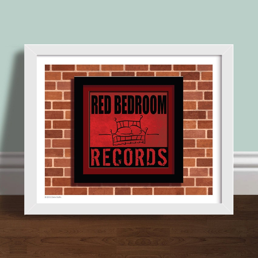 zoom. Red Bedroom Records One Tree Hill Art Print