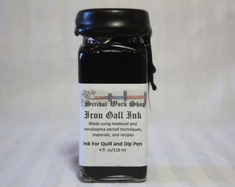 Large size - Iron Gall Historic Calligraphy and Drawing Ink, 4 oz