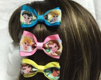 Mini Princess Hair Bow - 2 inches