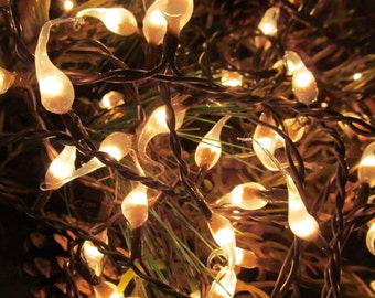Primitive Country Hand Dipped Silicone Light Strand - Natural- 100 Count