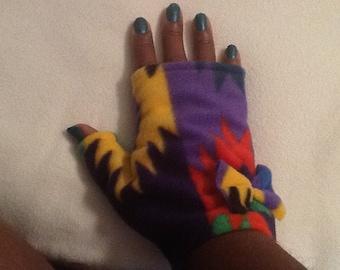 Native American Print Hand Warmers/Fingerless Gloves