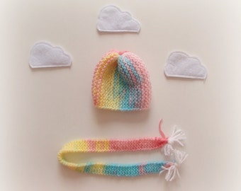 Beanie & Scarf Set - Dress up Doll Clothes :)