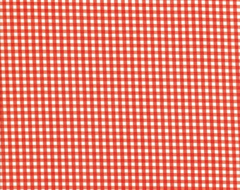 Orange Gingham Fabric - 1/8 inch Gingham Fabric - Riley Blake Fabrics