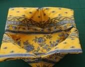French Provence reversible cotton coated Bread basket Petites fleurs