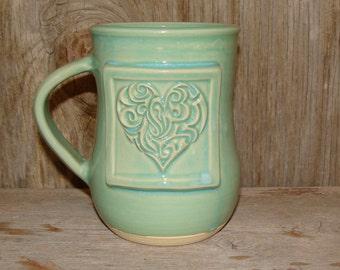 Turquoise Heart Mug