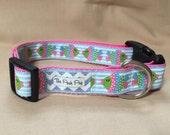 "Handmade Sparkle Fish 1"" Adjustable Dog Collar - MEDIUM"