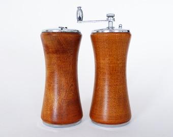 Vintage Wood Salt and Pepper Shakers Japan