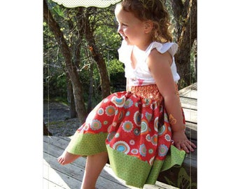 Olivia Skirt Pattern, Childrens 3-12 years, by Butterfly Kisses Patterns
