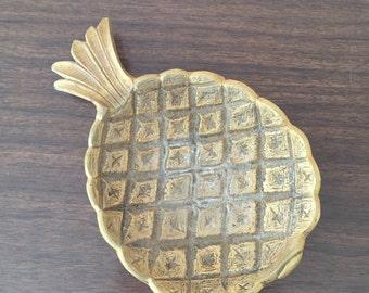 Vintage Brass Pineapple Dish