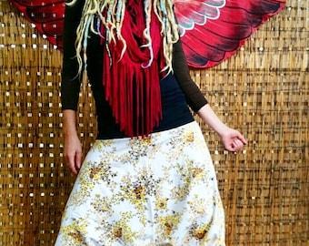 Gypsy pants/ beach/ festival/ bohemian/ harem pants/ flanellette/ corderoy/ recycled fabric/ planet-friendly. Size 10