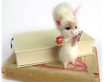 Marie Antoinette Hamster Needle Felted 'Marie Hamtoinette' Let Them Eat Cake Animal Art Doll Felting