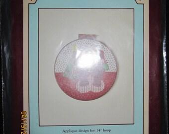 "Teddy Bear Christmas 14"" Hoop Applique Pattern"
