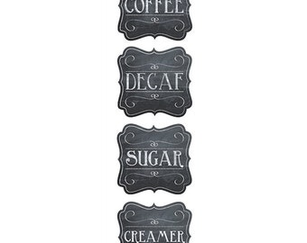 Coffee Time Chalk Labels 4, DIY supplies, organization, meet & greet, party, decor, labels