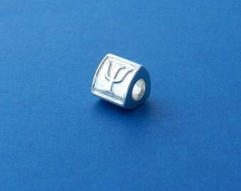 Psy (or Psi) Psychology Charm Bead, fits Pandora bracelet