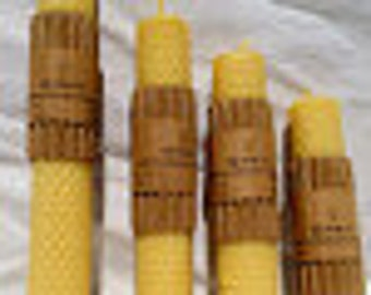 "100% Pure Beeswax Hand Rolled Honeycomb Candle 4"" x 1 3/4"""