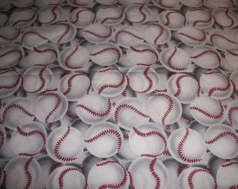 Baseball on white  cotton   fitted crib/toddler sheet