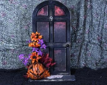 ooak halloween door/fiary door/witch door/one of a kind