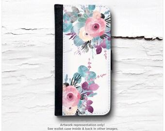 iPhone 6S Case Wallet, iPhone 6 Wallet Case Floral, iPhone 6s Case Watercolor Rose, iPhone 6S Flip Wallet Case, Wallet Case I111
