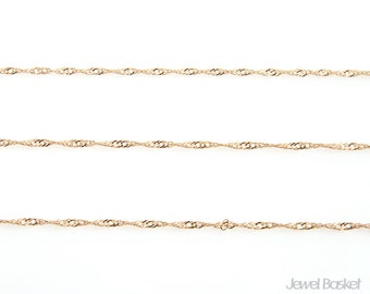 Twisted Chain in Gold - D120HM / 1.45mm / 100 meters (328 ft) / COG019-CH