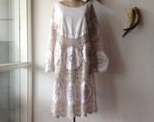 Womens Bohemian Cotton Lace Dress.Size 12 to 16.