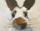 "Bunny painting, animal art, 10x8"" original oil painting, rabbit, wall candy,modern impressionist"