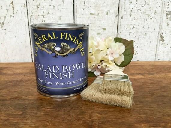 Salad Bowl Finish - General Finishes - Best Polyurethane - Wipe on Poly - Clear Coat for Wood - Oil Base Polyurethane - Wood Oil