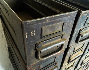 Vintage Military Parts Bin Drawer Heavy Duty Industrial Steel Storage