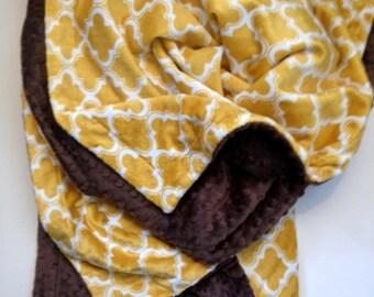 Kids Minky Blanket, Moroccan Print Blanket, Minky Baby Blanket, Geometric Blanket, Infant blanket, Carseat Blanket, Stroller Blanket