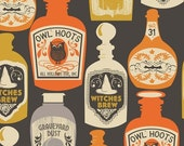 Witches Brew in Black - Spooktacular Eve collection - Blend - Fat Quarter, Half Yard or More