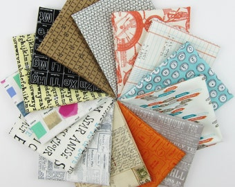 Text Me Maybe Fat Quarter Bundle - 14 Text Fat Quarters - 3.5 Yards Total