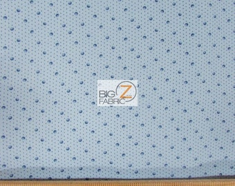 "100% Cotton Fabric By Wilmington Prints  - Birds Of A Feather Floral Blue Dots - 45"" Width Sold By The Yard (FH-1996)"