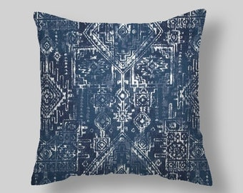 "Blue Pillow Covers  Navy  Blue Pillow Covers Decorative Pillows 18 ""   Accent Pillows Throw Pillows Decorative Pillows Home"