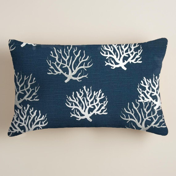 Blue Lumbar Throw Pillow : Blue Pillows Pillows Lumbar Decorative Throw Pillow
