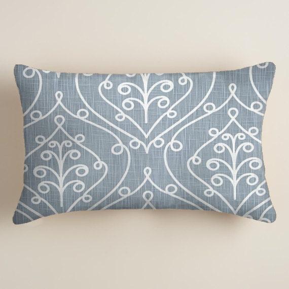 Items similar to Blue Pillows - Pillows - Lumbar Decorative Throw Pillow - Accent Pillows Decor ...