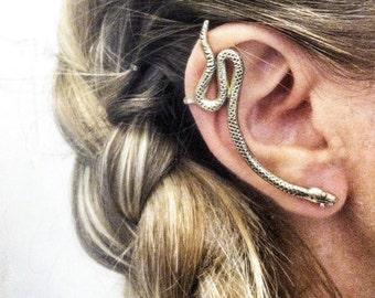 Snake Ear Cuff - Brass or Sterling Silver