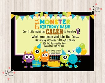 Monster Birthday Bash - PRINTABLE DIGITAL INVITAION