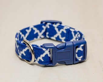 Dog Collar, Navy Blue Dog Collar