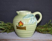 Vintage Rosemeade ~ Fort Frances Canada Souvenir ~ Small Cream Pitcher ~American Art Pottery
