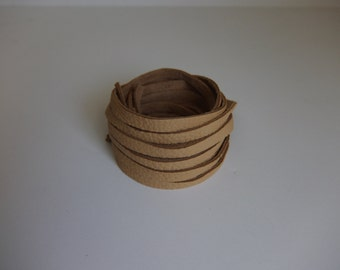 "Deerskin Leather Lace Saddle Premium Grade 5/16"" - 2 mm x 40 inch.  17 Total Feet  Deerskin Lace, Deerskin, Leather, Deerskin"