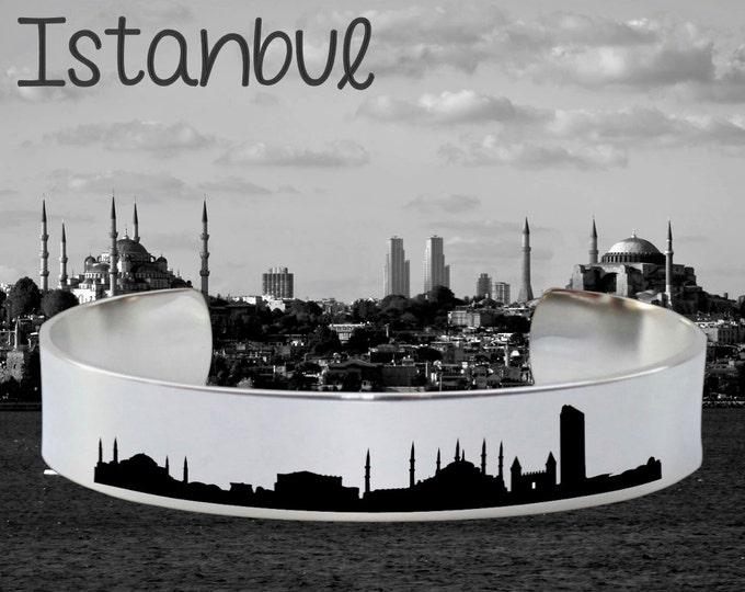 Istanbul Skyline | Cityscape Jewelry | Skyline Jewelry | Skyline Bracelet | Cityscape Bracelet | Friend Gift | Travel Gift | Map Jewelry