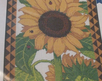 Lady Sunflower - Ladybug Designs - Counted Cross Stitch Kit